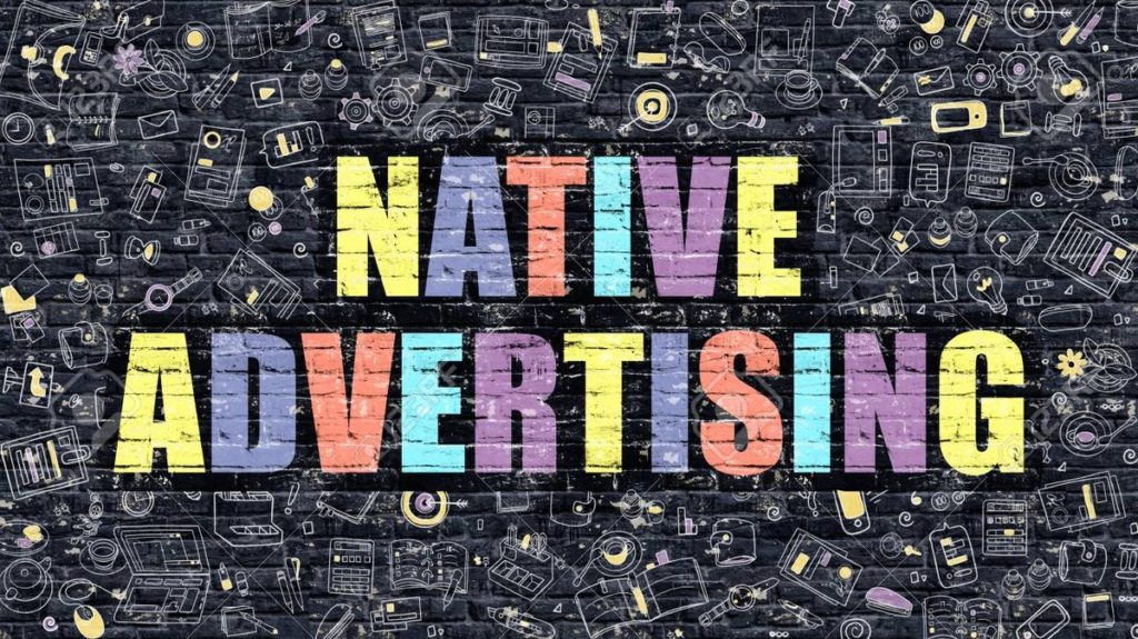 Native Advertising Concept